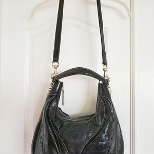 Gucci Bags - Gucci Snow Glam Black Patent Leather Medium Hobo